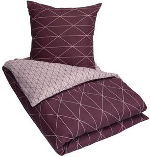 Sengetøj 150x210 cm Graphic rosa - Microfiber sengetøj