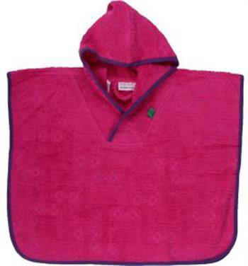 Håndklæde poncho til børn - Str. 104-116- Freds World - Rød - Økologisk bomuld - Home-tex