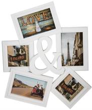 Fotoramme med plads til 5 billeder - Flot hvid farve