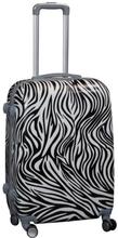 Kuffert i sort/hvid - Stor - Hårdt ABS / polycarbonat