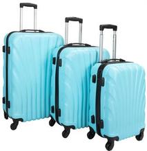 Trolleysæt med 3 stk i lyseblå - Hard case kuffertsæt - Stødsikkert polypropylen