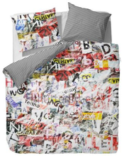 Sengetøj Covers & Co - 150x210 cm - 100% bomulds renforcé - Covers & Co Colorful newspaper