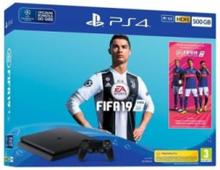 PlayStation 4 Slim Black - 500GB (Fifa 19 Bundle)