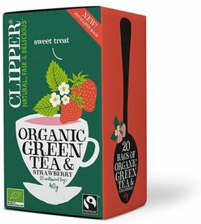 Clipper Te Grøn Te m. Jordbær Ø, 40g