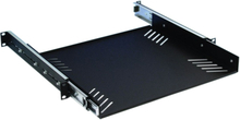 "Adam Hall 87556 19"" Rack Cradle 1 Unit with Drawer Slides"