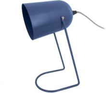 Mørkeblå bordlampe