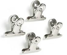 Magnetklemmer sølv, Bulldog Mini 4-pak