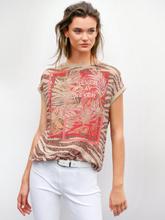 Rundhals-Shirt überschnittener Schulter Betty Barclay rot