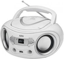 Aeg Portabel Radio Med Cd-spelare Sr 4374 Stereo Vit