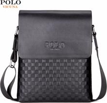 VICUNA POLO Classic Plaid Design Business Man Bag Vintage Brand Mens Messenger Bag Casual Grid Shoulder Bag For Male bolsa Hot