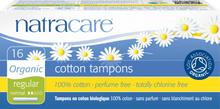 NatraCare Organic Cotton Tampons Regular 16 stk