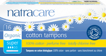 NatraCare Organic Cotton Tampons Super 16 stk