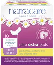 NatraCare Organic Cotton Ultra Extra Pads Super 10 stk