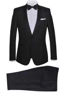 Vidaxl mörk kostym herrar strl. 48 svart