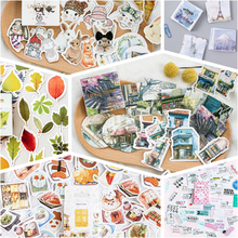 45pcs/lot Animal Plants Memo Stickers Pack Cute Kawaii Planner Diary Stickers Scrapbooking Stationery Escolar School Supplies