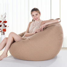 Bean Bag Sofa Cover Chairs Pouf Puff Couch Cotton Linen Cloth Lazy BeanBag Sofas Without Filling Lounger Seat Tatami Furniture