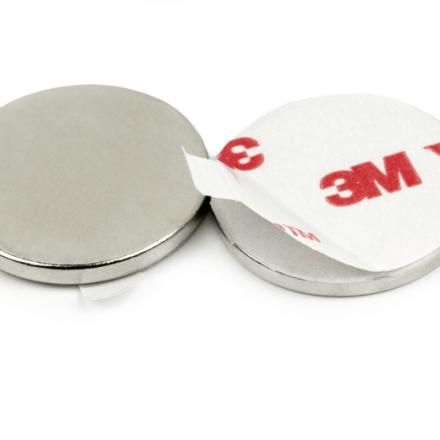 Selvklebende disk magnet Ø 12 mm x 2 mm med løftekraft 1.3 kg