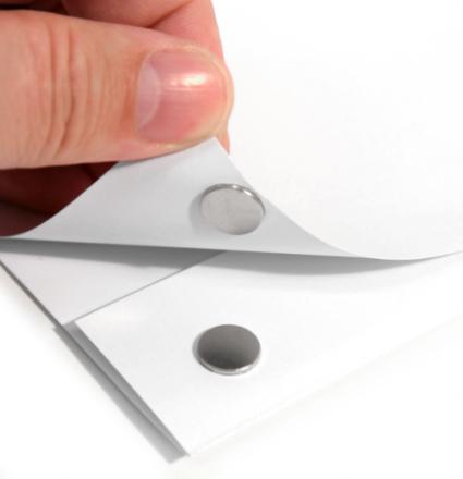 Selvklebende disk magnet Ø 10 x 1 mm | Mini skive magneter med lim
