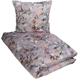 Sengetøy med digitalprint- 140x220 cm - Lavendelfarget med blomster - 100% Bomullssateng - Excellent By Borg