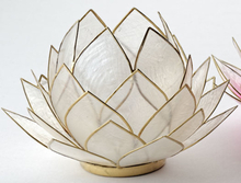 Stor lotusblomma för värmeljus, natur