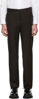 Giorgio Armani Brown Virgin Flannel Trousers