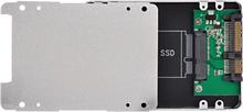 White Aluminum Alloy Case Standard 2.5inch SATA To SATA SDD Adapter Enclosure 22Pin Converter Adapter External Case For PC