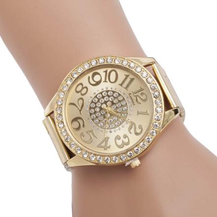 Watches Women 1PC Luxury Diamond Stainless Steel Sports Wrist Dial Top Brand Luxury Alloy Quartz Watch Relogio Masculino