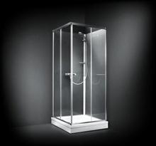 Dansani BASE Dusjkabinett 90x90 cm, Frosset glass/Blank profil