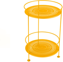 Fermob - Guinguette Side Table Perforated Ø40 cm, Honey