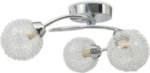 vidaXL Taklampa för 3 G9-glödlampor 120 W