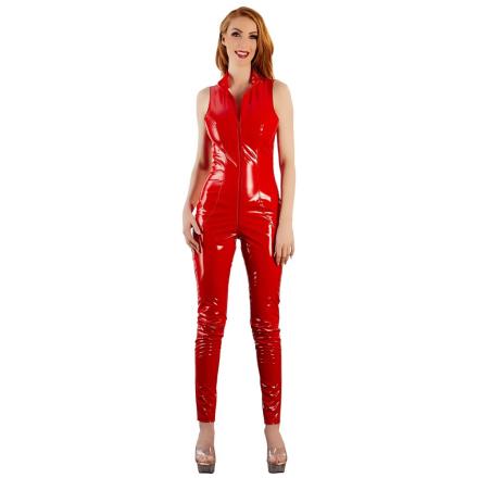 Rød Lak Jumpsuit - boutiqueerotic