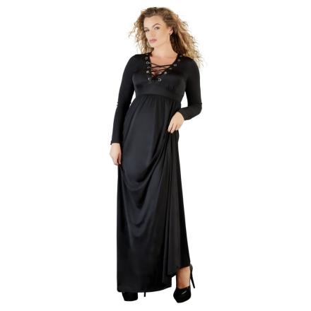 Lang Kjole i Plus Size med Snører - boutiqueerotic