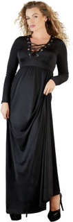 Lang Kjole i Plus Size med Snører