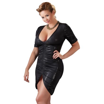 Plus Size Kjole med Draperinger - boutiqueerotic