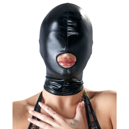 Bad Kitty Maske i Sort Wetlook