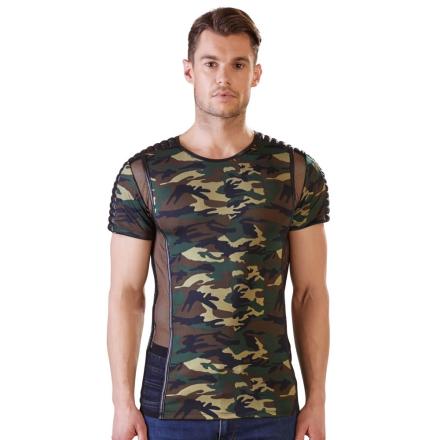 Camouflage Shirt med Net til Herre - boutiqueerotic