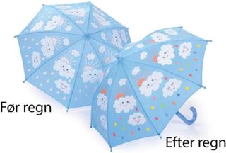 Paraply til børn skifter farve ved regn - Fun4Rain