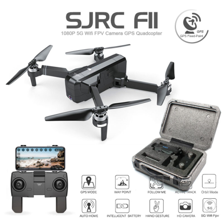 SJRC F11 GPS Drone With Wifi FPV 1080P Camera Brushless Quadcopter 25 minutes Flight Time Gesture Control Foldable Dron Vs CG033