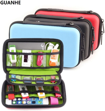 GUANHE Waterproof Hard Drive Earphone USB Flash Case Digital Storage Bags organize box pochette disque dur 2.5 Hard Drive