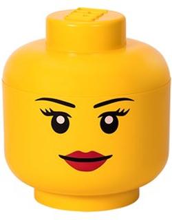 LEGO Inredning Legohuvud För Förvaring Stor