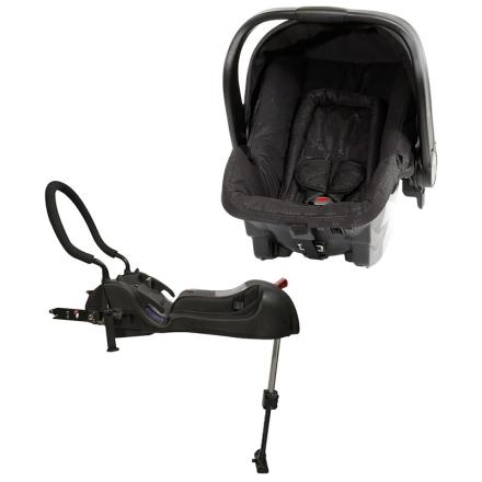 AxkidBilstolpakke Babyfix, Babybilstol, Svart + Baseplate