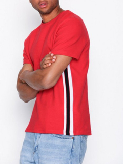 Topman Ss Red Tape Teee T-shirts & linnen Red