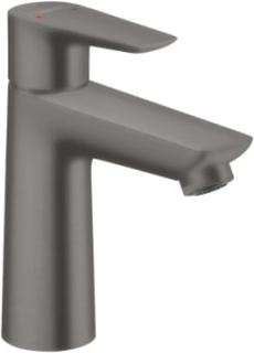Hansgrohe Talis E 110 håndvaskarmatur m/bundventil, børstet sort krom
