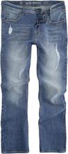 Shine Original - Slim Fit Jeans Destroy Blue -Jeans - blå
