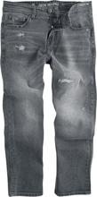 Shine Original - Cropped Loose Fit Jeans Metal Grey -Jeans - mørkegrå
