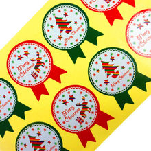 80PCS/lot NEW Christmas Theme badge Seal Gift paper Sticker Students' DIY Multifunction diary sticker cake biscuit package Label