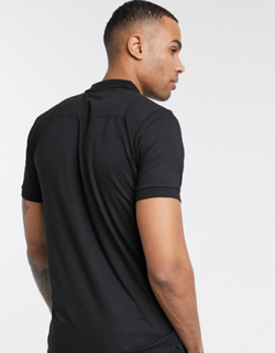 French Connection Essentials Tall polo in black