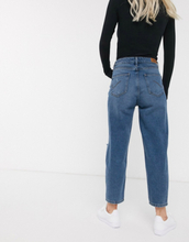 Only Petite distressed mom jean-Black