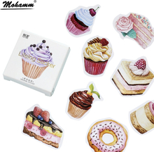 45Pcs/box Creative Dessert Cake Papers Stickers Flakes Vintage Romantic Love For Diary Decoration Diy Scrapbooking Sticker