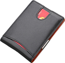 New Anti RFID Genuine Leather Men's Money Clip Wallet Female Credit Card Case Male Metal Bill Clamp Cash Holder Purse For Women